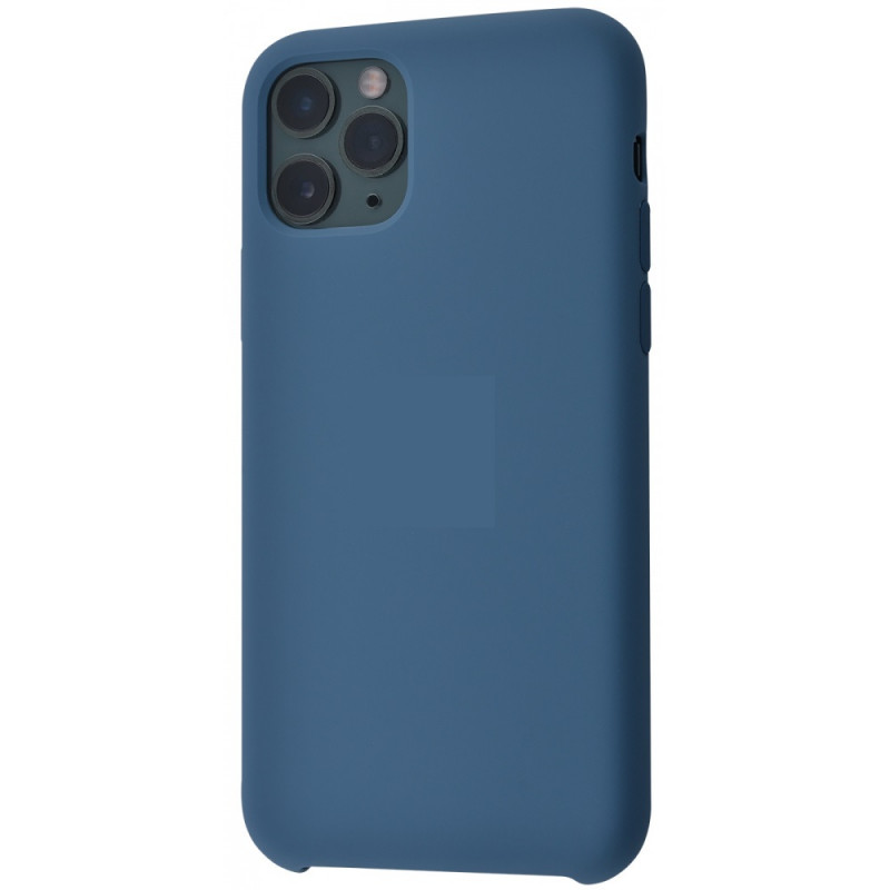 Чехол iPhone 11 Pro Max Silicon Case под ориг морской