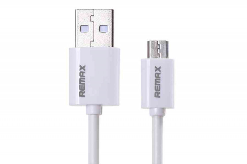 Кабель USB micro Remax белый 1000 mm