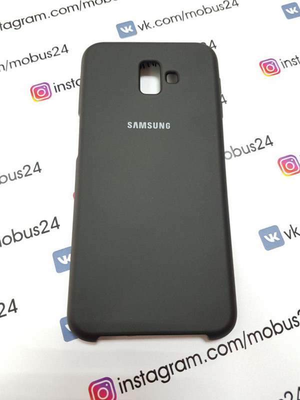Чехол Samsung J6(2018) Plus Silicon Cover Original черный