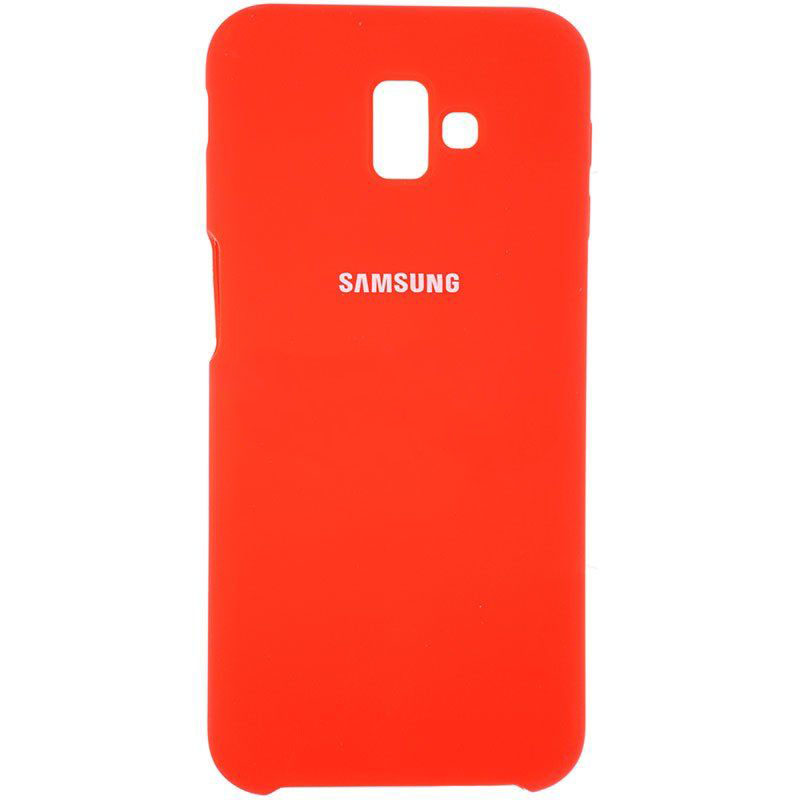 Чехол Samsung J6(2018) Plus Silicon Cover Original красный