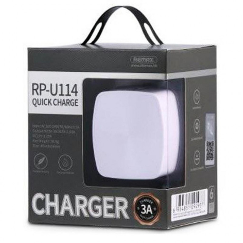 СЗУ USB 1Sockets Remax RP-U114 3.0A Quick Charger белый