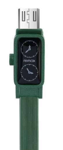 Кабель USB micro Remax RC-113000 mm Watch 1000 mm зеленый