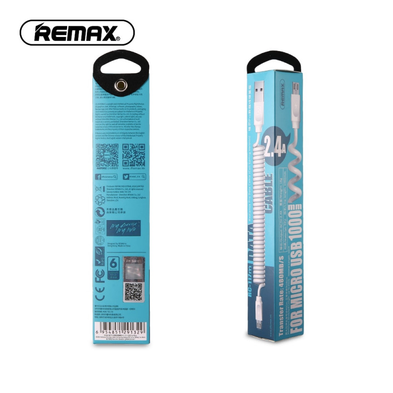Кабель USB micro Remax RC-117m 1м белый