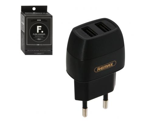 СЗУ USB 2 Sockets Remax U29 Flinc Charger 2,1A черный