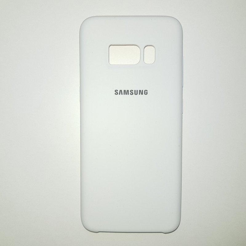 Чехол Samsung S8 Plus Silicon Case белый