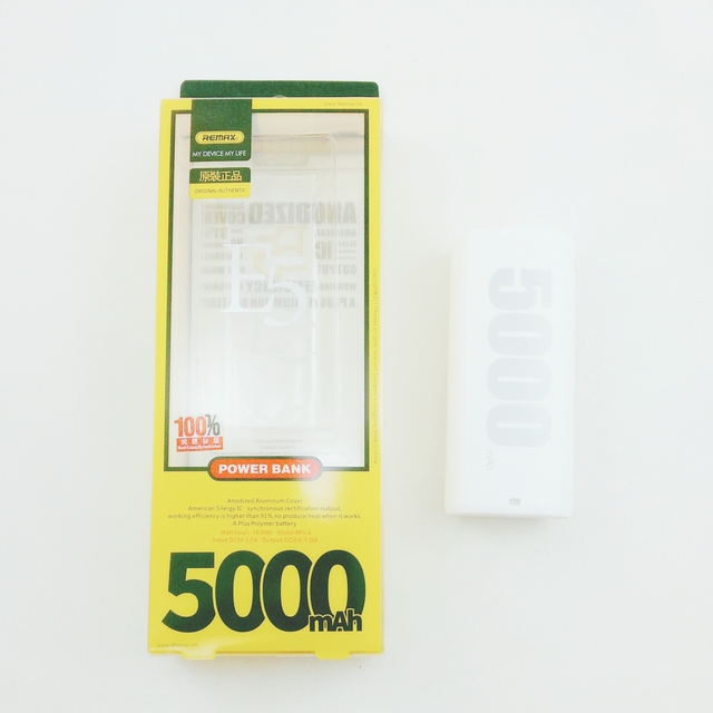 Power Bank 5000 mAh Remax E5 RPL-2 Original (белый)