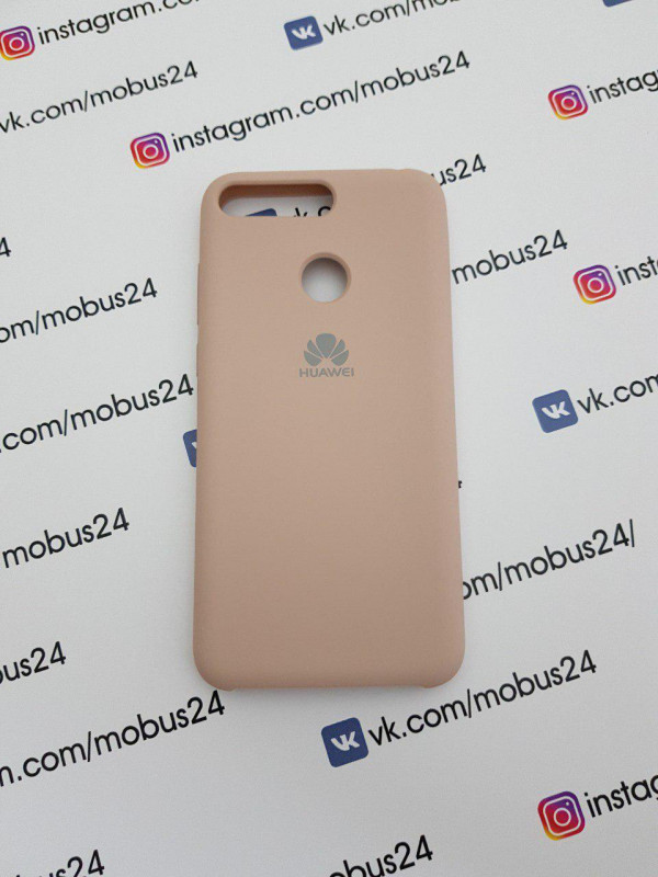 Накладка HUAWEI Honor Y7 Prime Silicone Cover пудра