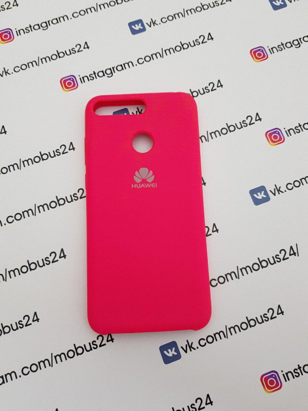 Накладка HUAWEI Honor Y6 Prime Silicone Cover фуксия