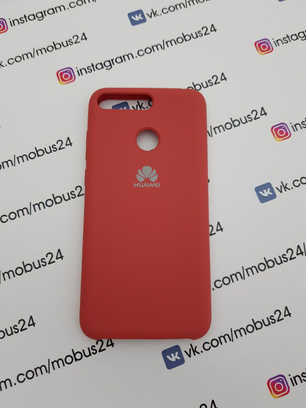Накладка HUAWEI Honor Y6 Prime Silicone Cover роза