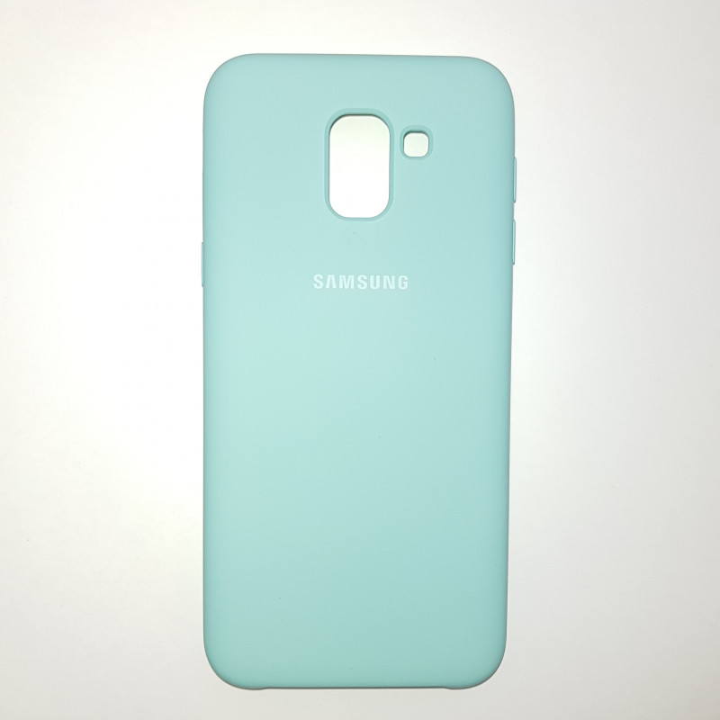 Чехол Samsung J6(2018) Silicon Cover Original мятный