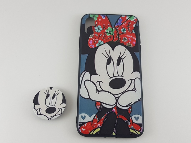Чехол iPhone XS Max PopSocket Minnie пластик/силикон