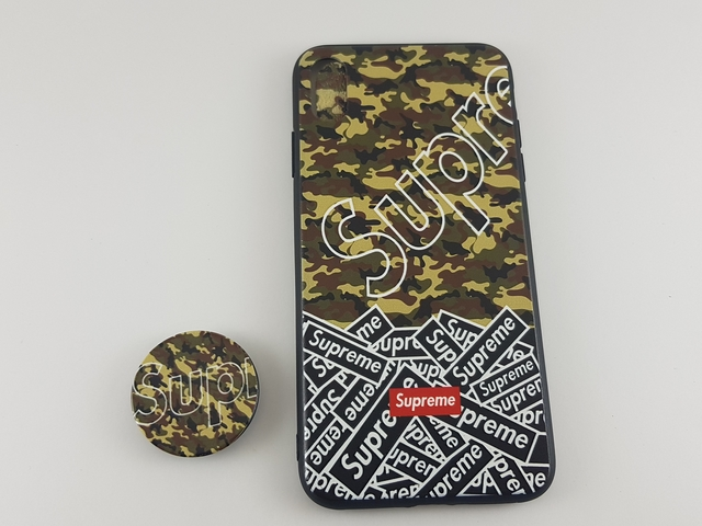 Чехол iPhone XS Max PopSocket Supreme Камуфляж пластик/силикон