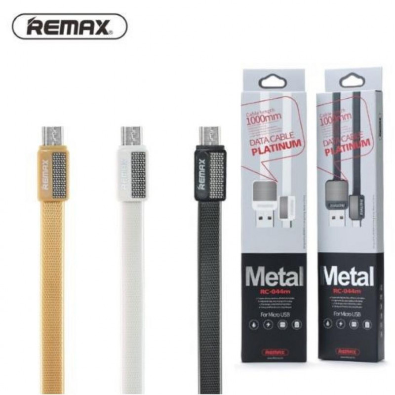 Кабель USB Micro USB Remax RC-044m Metal 1м черный