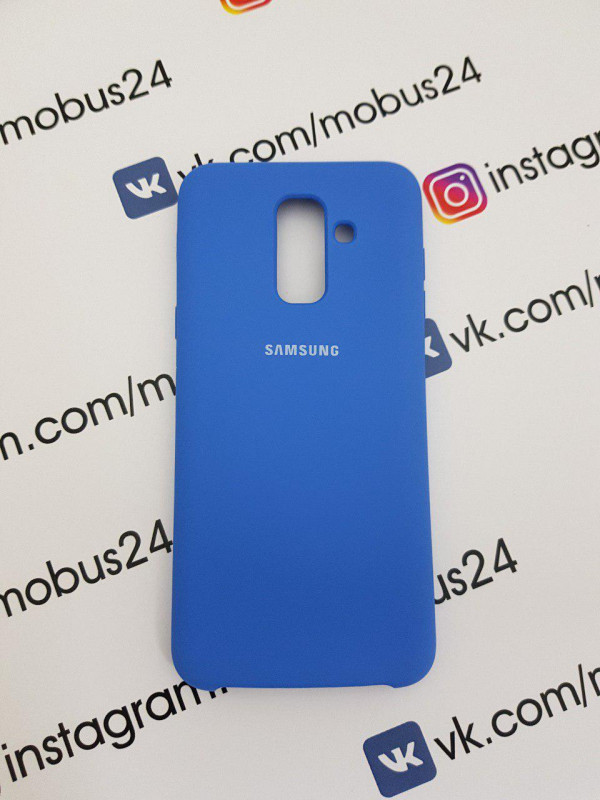 Чехол Samsung J6(2018) Plus Silicon Cover Original голубой