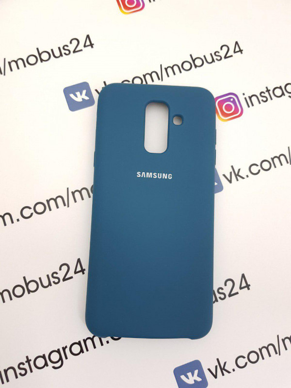 Чехол Samsung J6(2018) Plus Silicon Cover Original мятный