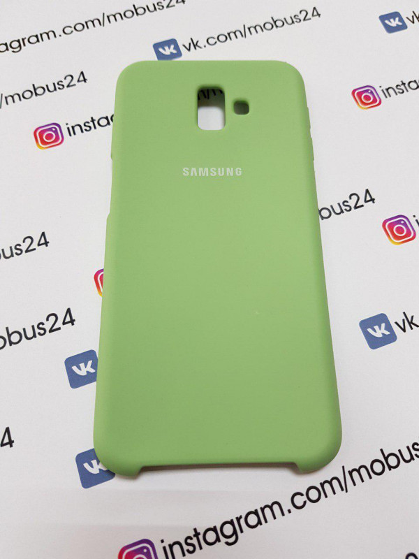 Чехол Samsung J6(2018) Plus Silicon Cover Original оливковый