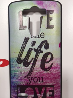Накладка LG G3 Live the life you love пластик SALE