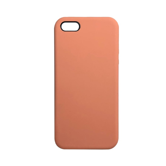 Чехол iPhone 5/5S/5SE Silicon Case под ориг коралловый меланж