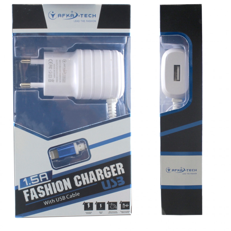 СЗУ+USB 1,5A iPhone 5 Afka-Tech белый