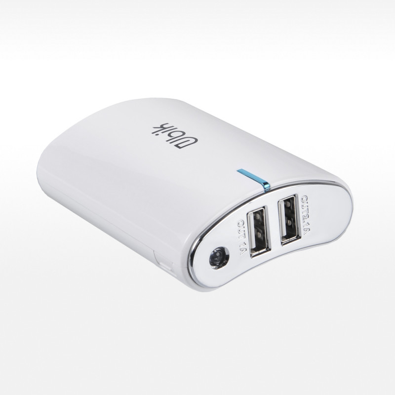 Power Bank Ubik UPB06 USBx1 LCD 7800mA (белый)