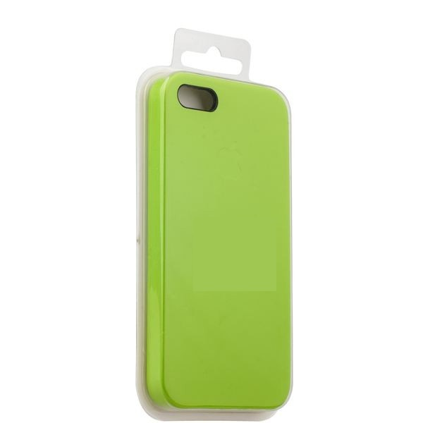 Чехол iPhone 5/5S/5SE Silicon Case под ориг лайм