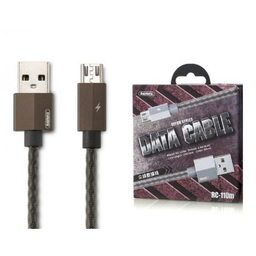 Кабель USB micro Remax RC-110m Gefon 1000 mm серый