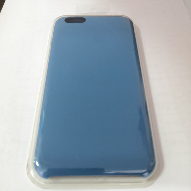 Чехол iPhone 6/6S Silicon Case под ориг синий меланж