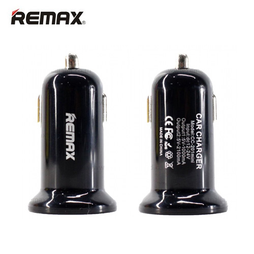 АЗУ USB 2 Sockets Remax RCC201mini 2.1A черный