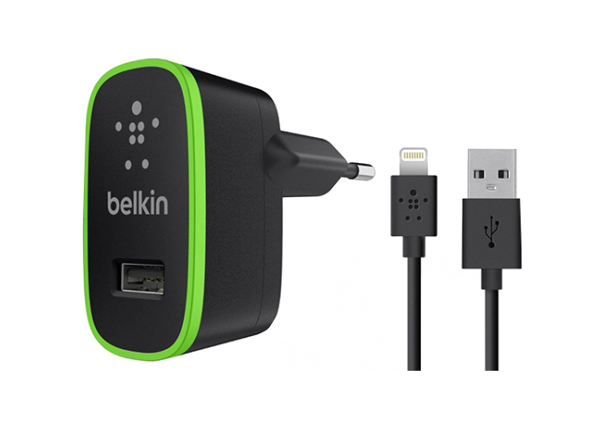 СЗУ USB+кабель USB iPhone 5 Belkin 2.1А черный