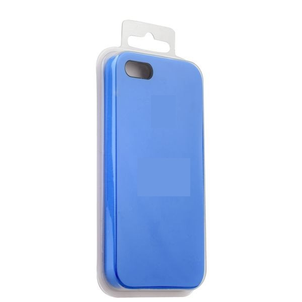 Чехол iPhone 5/5S/5SE Silicon Case под ориг синий