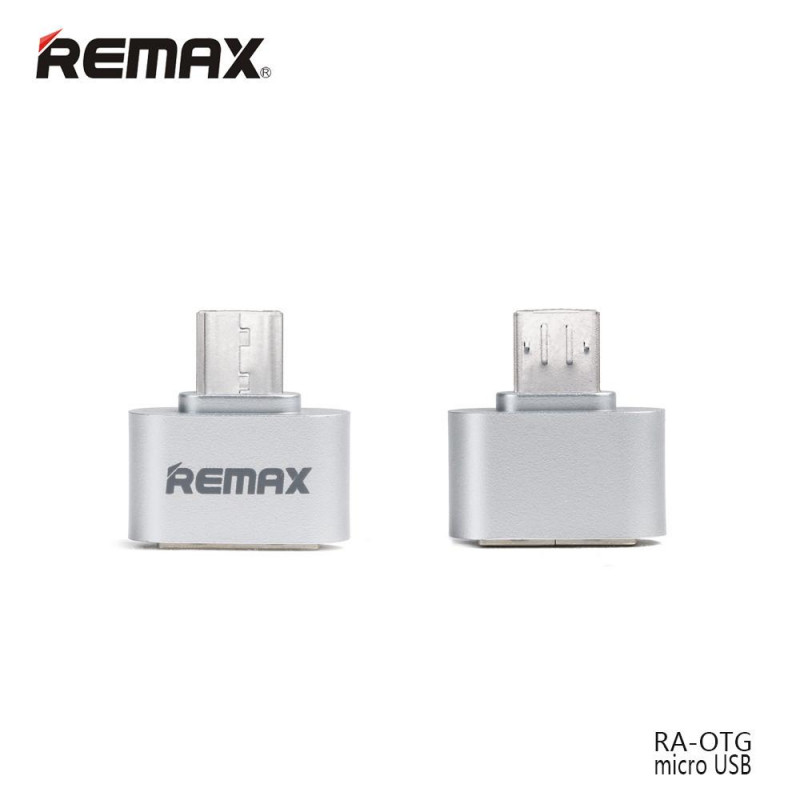 OTG micro USB to Micro Remax серебро