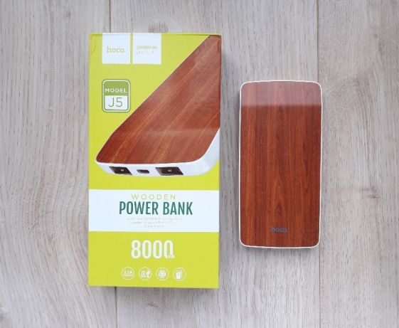 Power Bank 8000 mAh Hoco J5 Wooden (красный) дуб