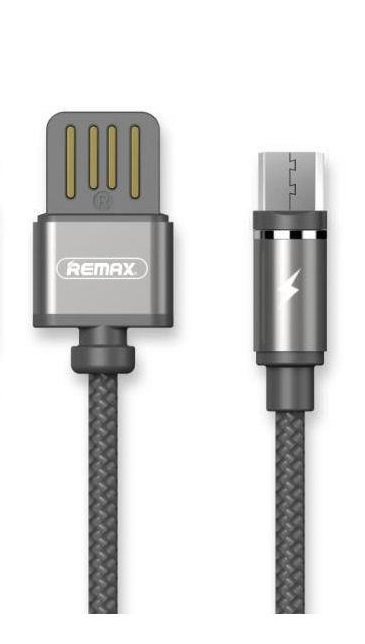 Кабель USB micro Remax RC-095m Gravity Data 1м серый