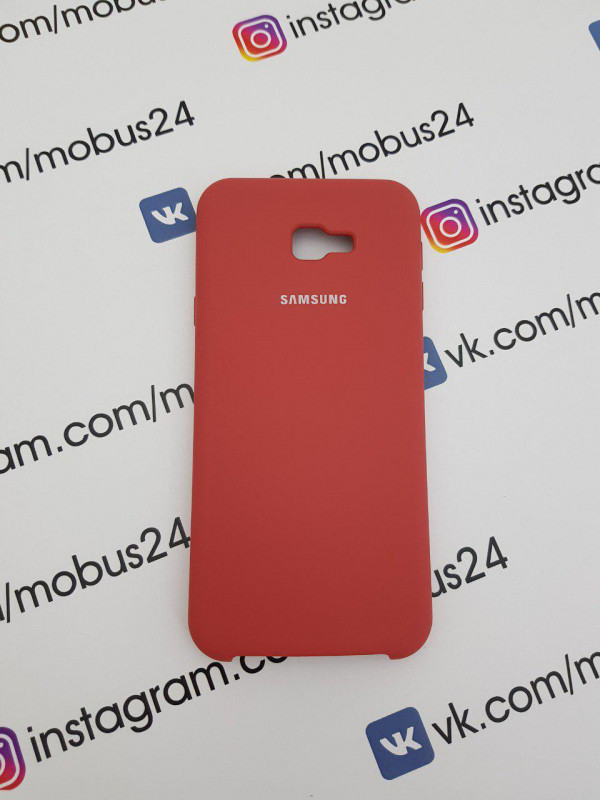 Чехол Samsung J4Plus (2018) Silicon Cover Original коралловый меланж