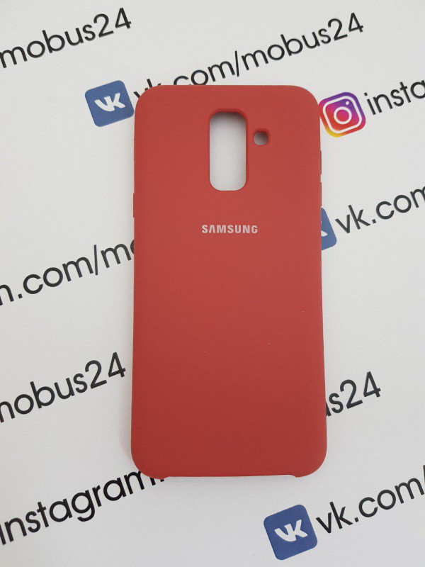 Чехол Samsung J6(2018) Plus Silicon Cover Original коралловый меланж