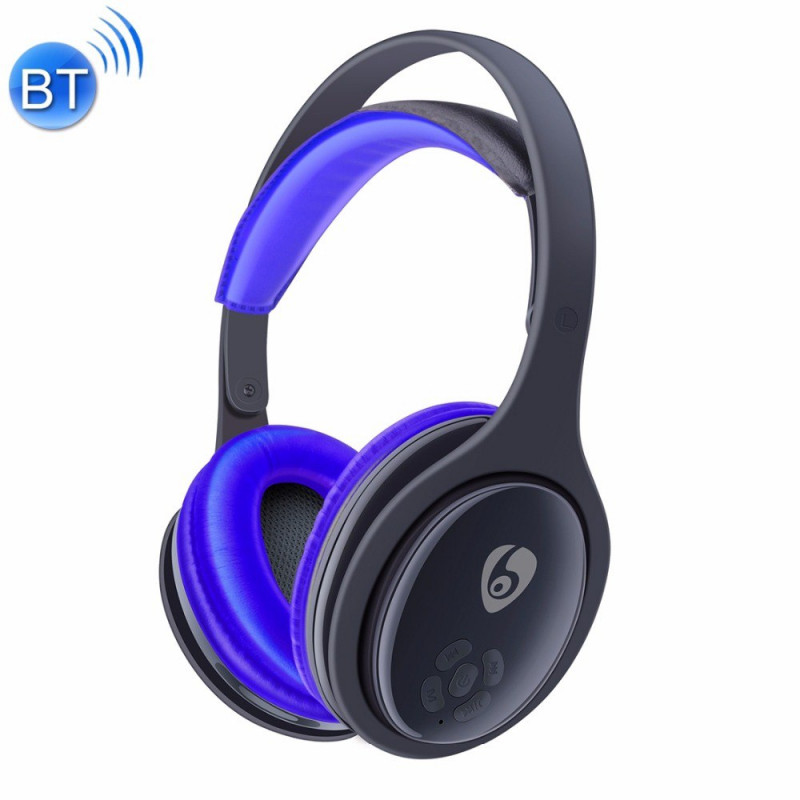 Наушники с микрофоном Bluetooth ETTE MX555 синий