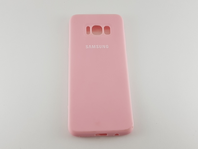 Чехол Samsung S8 Silicone Cover розовый