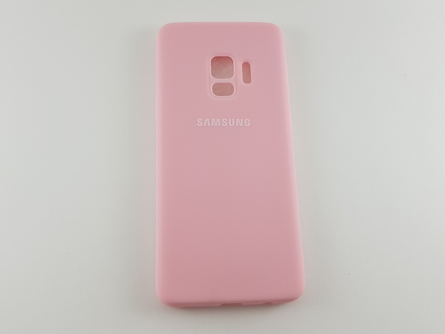Чехол Samsung S9 Silicone Cover розовый