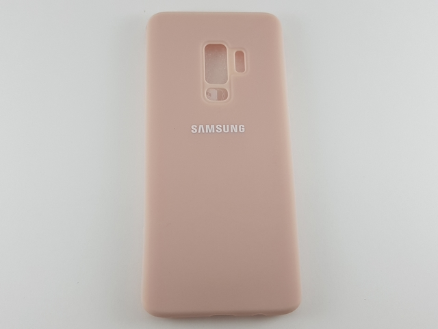 Чехол Samsung S9 Plus Silicone Cover бежевый