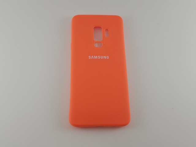 Чехол Samsung S9 Plus Silicone Cover оранжевый