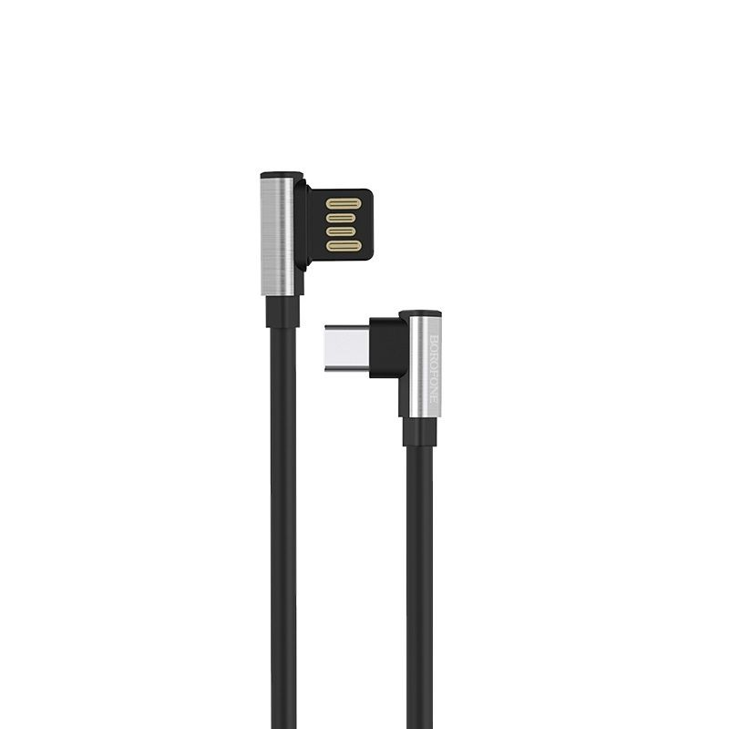 Кабель USB type-c Borofone BU5 Ice steel 1200 mm черный