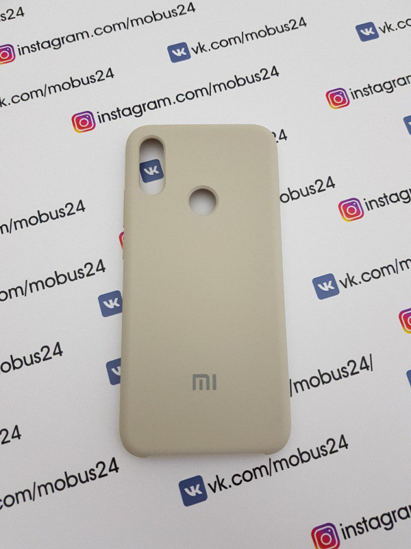 Накладка Xiaomi Redmi Note 7 Silicon Case Original серый
