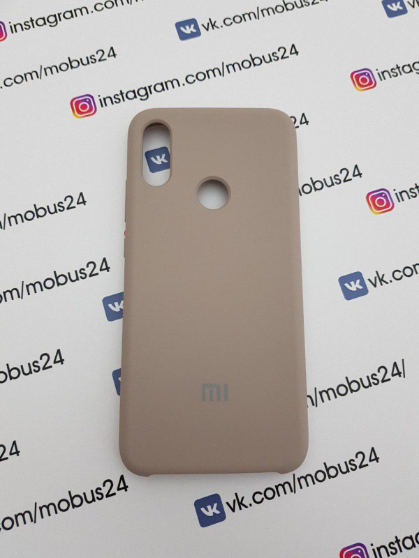 Накладка Xiaomi Redmi Note 7 Silicon Case Original пудра
